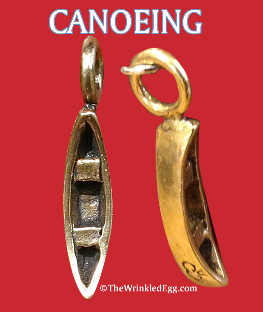 charm: campfire collections - canoe charm