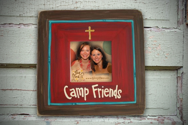 camp friends frame with cross