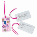 luggage tags - girls camp flowers