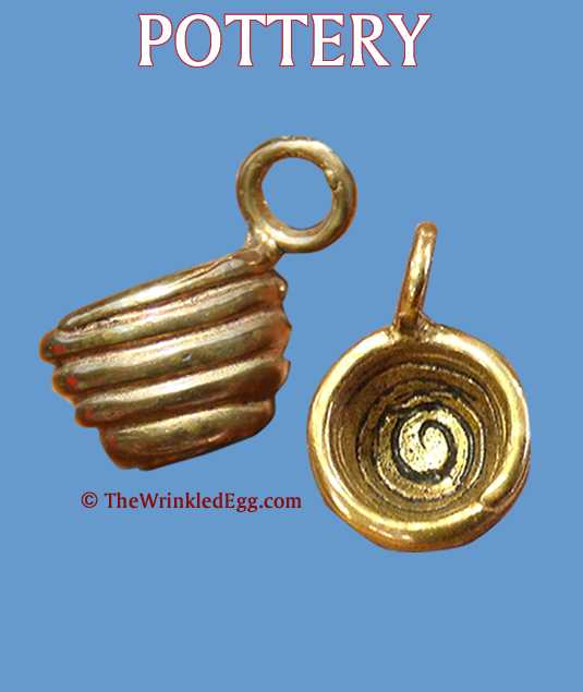 charm: campfire collections - pottery charm