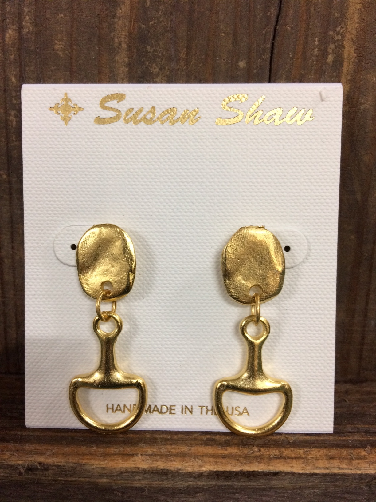 susan-shaw-equestrian-earrings-gold-snaffle